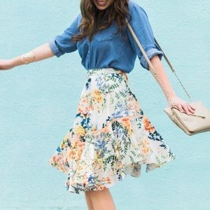 Anthropologie Ranna Gill Floral Jardin Skirt 4
